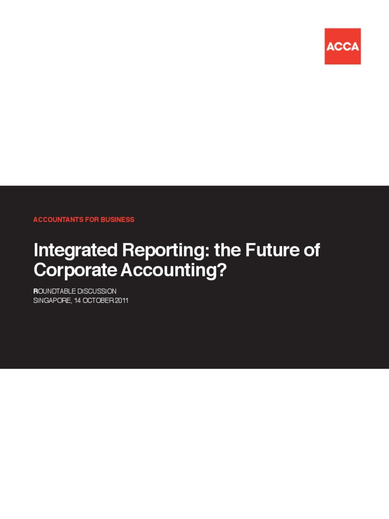 Integrated Reporting ACCA | Corporate Social Responsibility