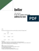 Holler 2010 Score Sax