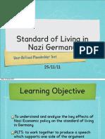 NAZI Standard of Living