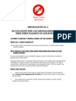 HSE Bulletin 1 - 3 Point Contact