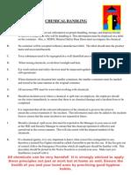 HSE Bulletin 7 - Chemical Handling