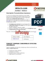 Toner original para Kyocera Mita FS-1100