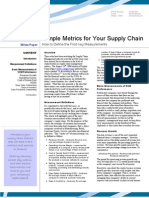 Simple Metrics for Your Supply Chain
