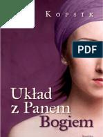 """Ewa Kopsik, """"Układ z Panem Bogiem"""", Wydawnictwo Replika 2012"""