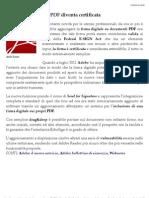 La Firma Digitale Su PDF Diventa Certificata