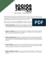 Acción Crítica - Plan de Trabajo CF Sociales