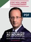 Affiche Meeting françois Hollande au Bourget