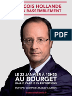 Affiche Meeting françois Hollande au Bourget