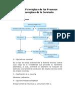 Bases Fisiológicas de los Procesos Psicológicos de la Conducta