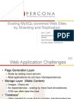 Scaling Web Sites by Sharding and Replication