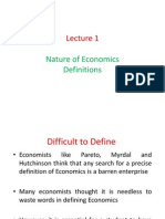 defination of economics