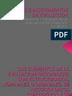 Tecnicas e Instrumentos de La Evaluacion Naturalist A y Racionalista