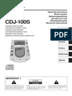 Cdj-100s Manual en Fr de Nl It Es