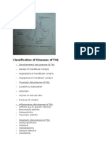 Classification of Diseases of TMJ