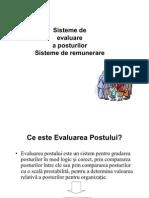 Sisteme de Evaluare a Posturilor - Sisteme de Remunerare