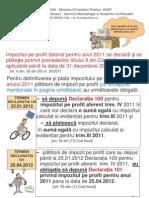 Declararea Si Plata Imp Profit Pt 2011