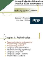 Lecture 1- Nidal Preliminaries