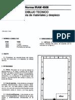 IRAM 4508 - Rotulacion y Lista Materiales