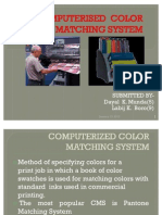 Computer is Ed Color Matching System