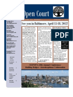 January 2012 Issue of Open Court