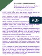 ORACIÓN DE GRACIAS