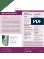 Handbuch Online-PR - Infoflyer - UVK 2012