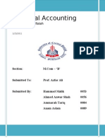 Project of Accounting - Bank Alfalah