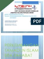 an Tamadun Islam Era Sahabat