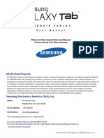 GEN GT-P1010 Wi-Fi Galaxy Tab English User Manual