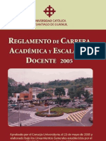 Escalafon Docente 2005