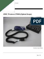 JDSU Westover P5000 Operations Manual