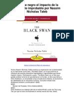 El cisne negro el impacto de la altamente improbable por Nassim Nicholas Taleb - 5 estrellas revisión