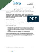 LTS Transfer Audit Checklist