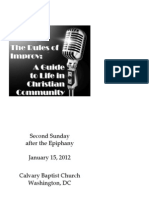 Bulletin for January 15, 2011