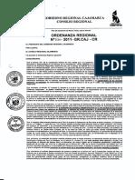 Ordenanza 036-2011/GRC - Conga Inviable