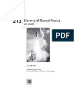 Physics 213 Elements of Thermal Physics 3rd Edition