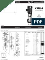 Bomba Vertical Grundfos Crn64 de Sistema de Agua Potable Ku-A