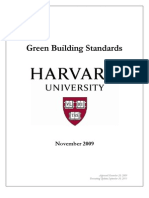 Harvard Green Building Standards November 2009 v2