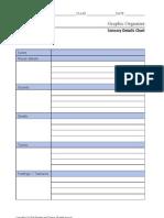 Sensory Details Chart