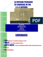 Inside-Outide Pressure With Coverage in the 3-3-5 Defesne by David Brown