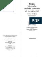 Hegel Nietzsche and the Criticism of Metaphysics