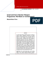 Israel and Iran's Nuclear Weapon Programme