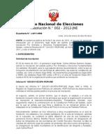 Jurado Nacional de Elecciones. Resolución sobre MOVADEF
