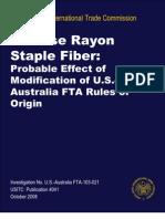 staple fiberprobable effectof modification of usaustralia fta rules oforigin