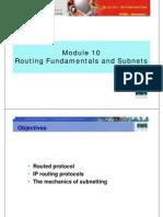 CCNA1 M10 Routing Fundamentals Subnets