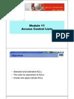 CCNA2 M11 Access Control Lists