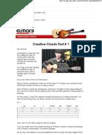 Creative Chords Part # 1