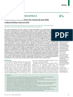 What Works? Interventions for Maternal and Child Undernutrition and Survival