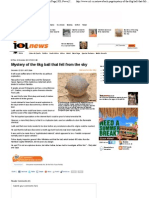 Mystery of the 6kg Ball That Fell From the Sky - Back Page IOL News IOL.co