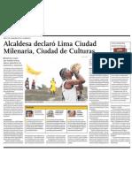 Lima es Ciudad de Culturas. Nueva Oportunidad para proyectos de gestión cultural